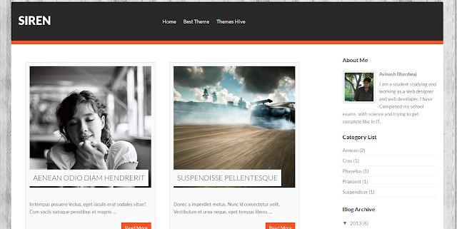 Siren Gallery Magazine Blogger Template