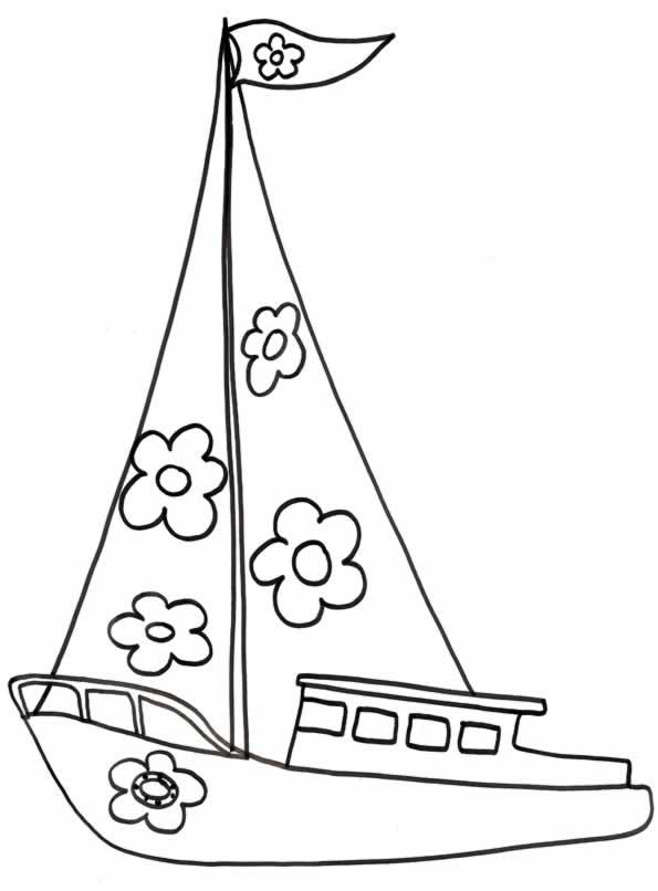 Dibujos para imprimir y colorear barcos para colorear - Voilier dessin ...