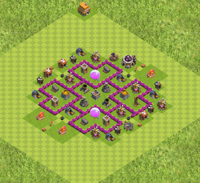 TH 6 Base Farming