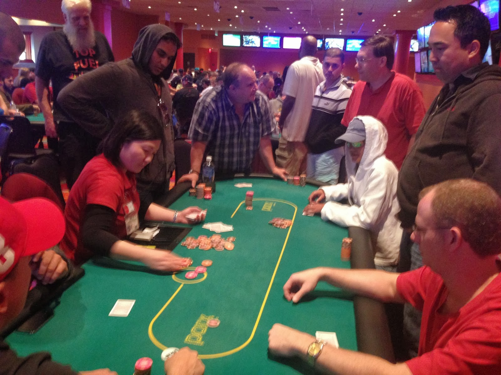 Parx big stax iv big stax 300 day 1c five way all in for Parx poker room live game report