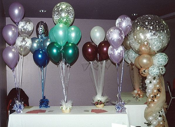 Balloon centerpieces diy party favors ideas