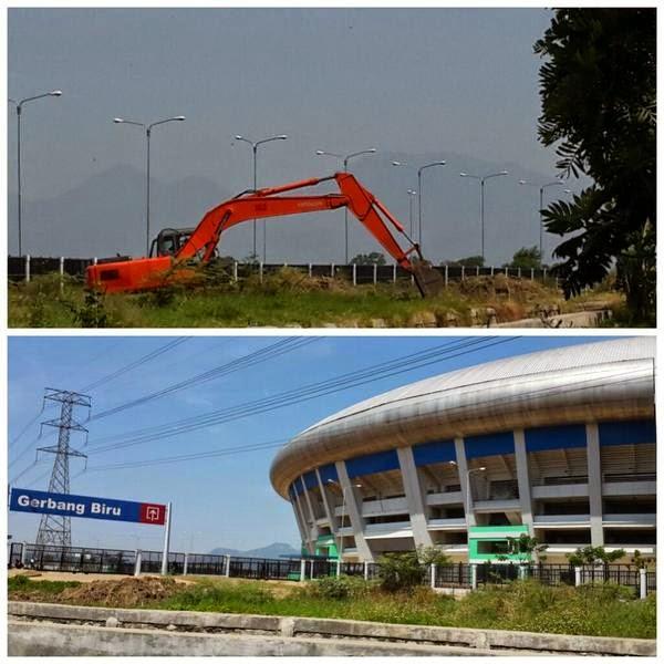 Akses Jalan Masuk Stadion GBLA Mulai Dikerjakan