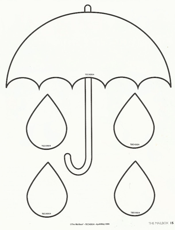 Free coloring pages of rain drops
