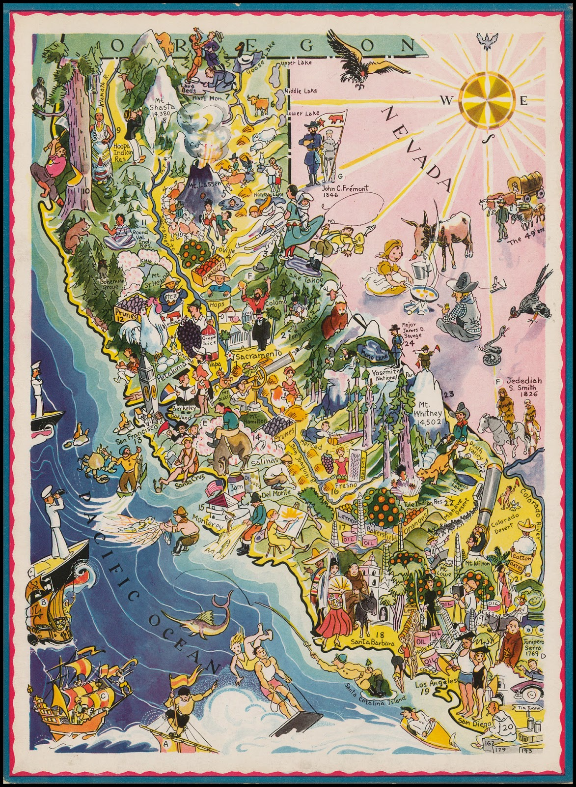 Caricature map of California (1932)