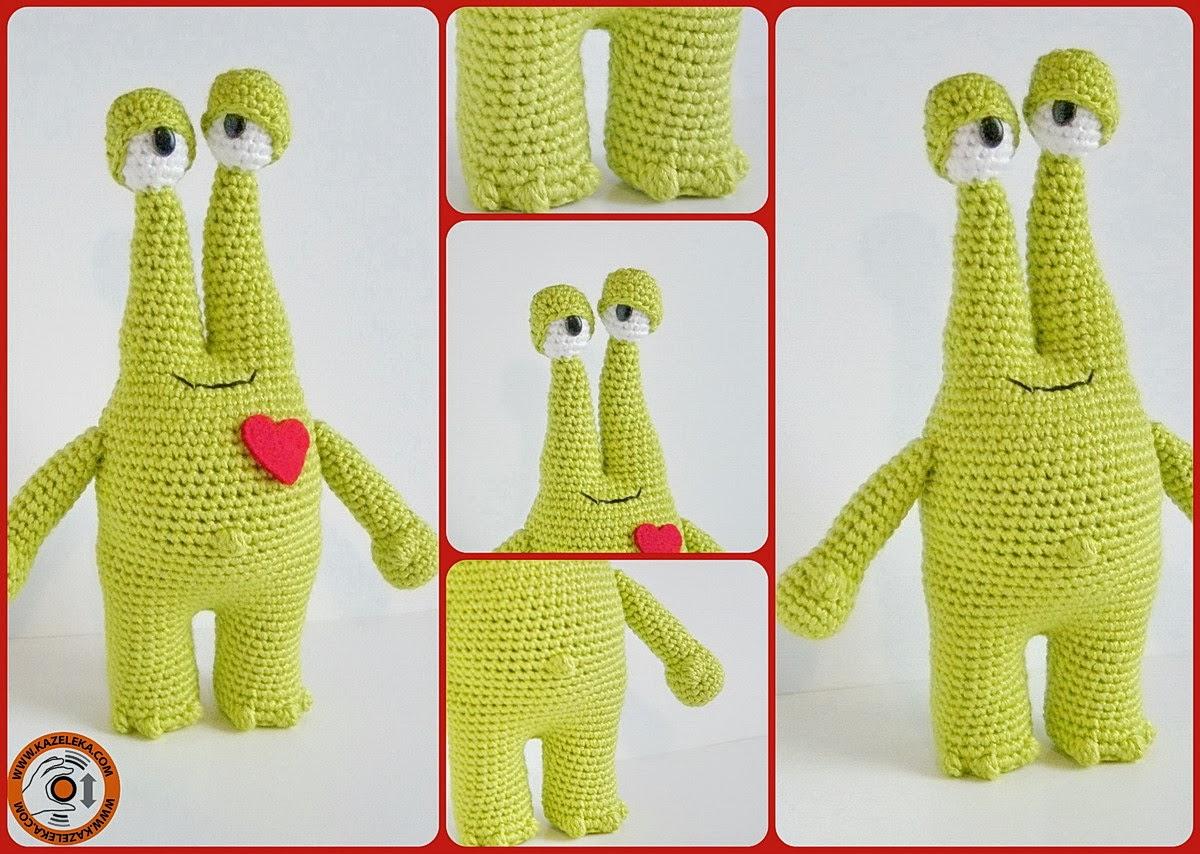 вязаный влюбленный монстр - crochet monster