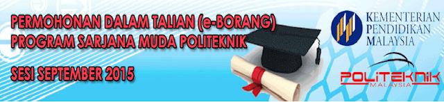 Permohonan Politeknik sesi September 2015 Online