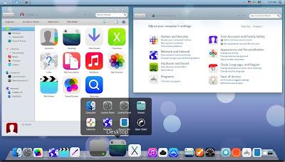 Tips dan Cara Merubah Tampilan Windows 7 Seperti Laptop Apple