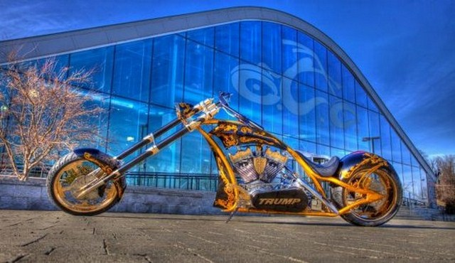 Paul Sr designs awesome gold chopper for Donald Trump | BYFFER