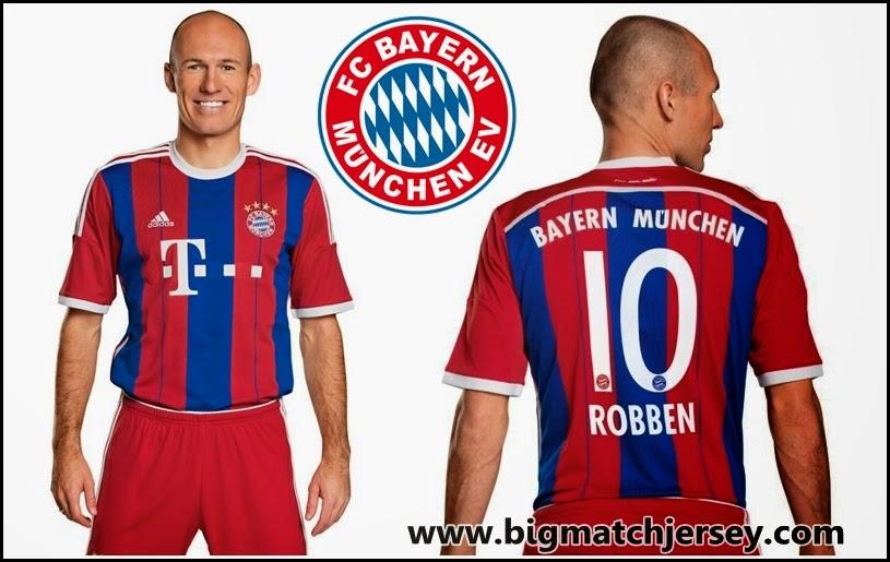 Arjen Robben Bayern Jersey 2014-2015