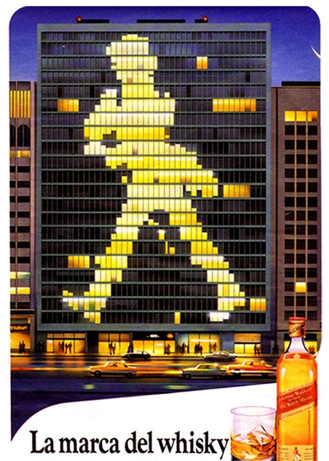 Johnnie Walker Publicidad de los años 80