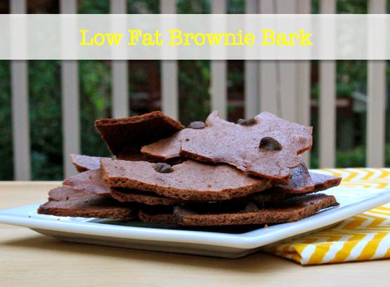 low fat brownie bark