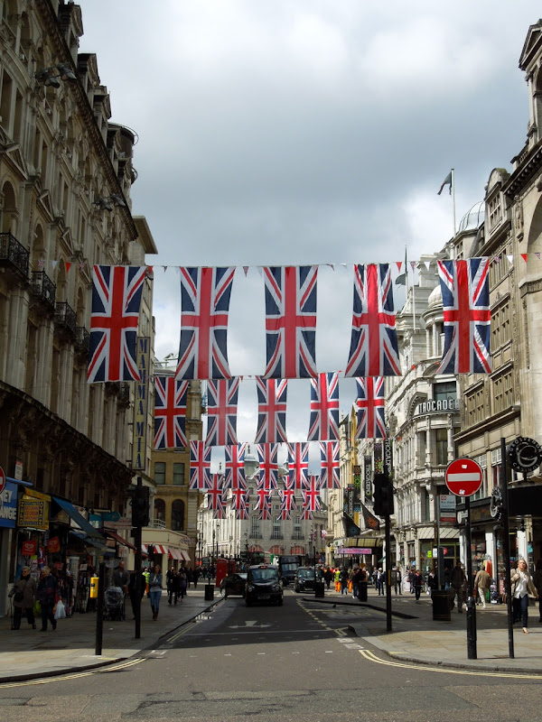 Diamond Jubilee Union Jack flags Coventry St London