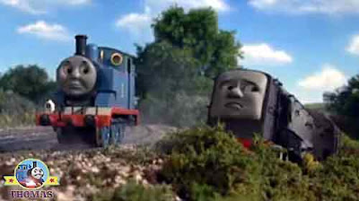 Now Thomas the tank engine and friends could see Dennis diesel train was in trouble on the tracks