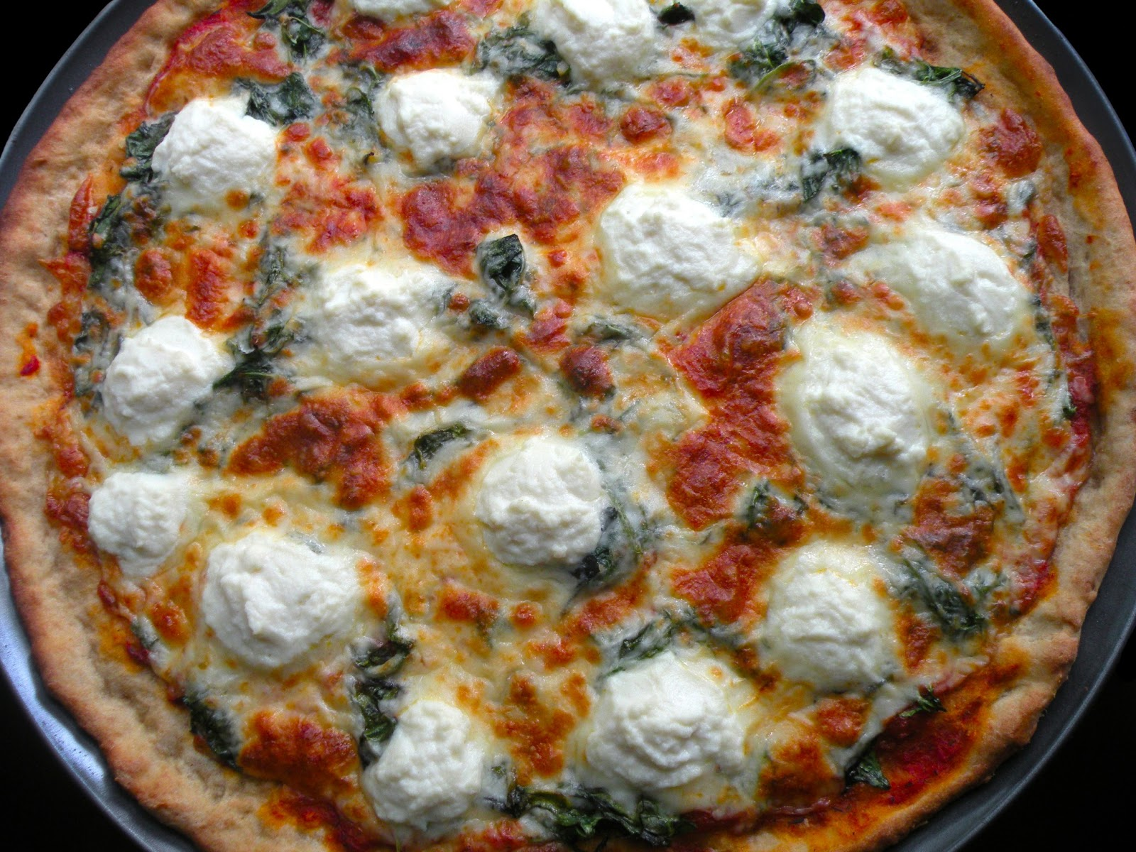 lovesmiths: A Remembrance of Pizza Past: Spinach Ricotta Pizza