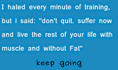 Keep Going with muscle without fat