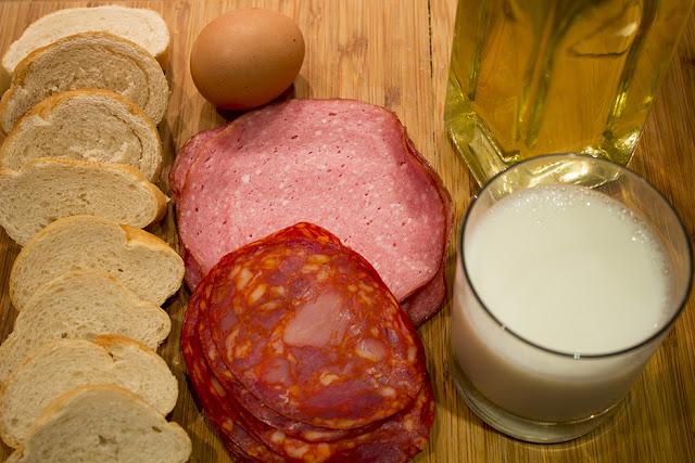 ingredientes para emparedados