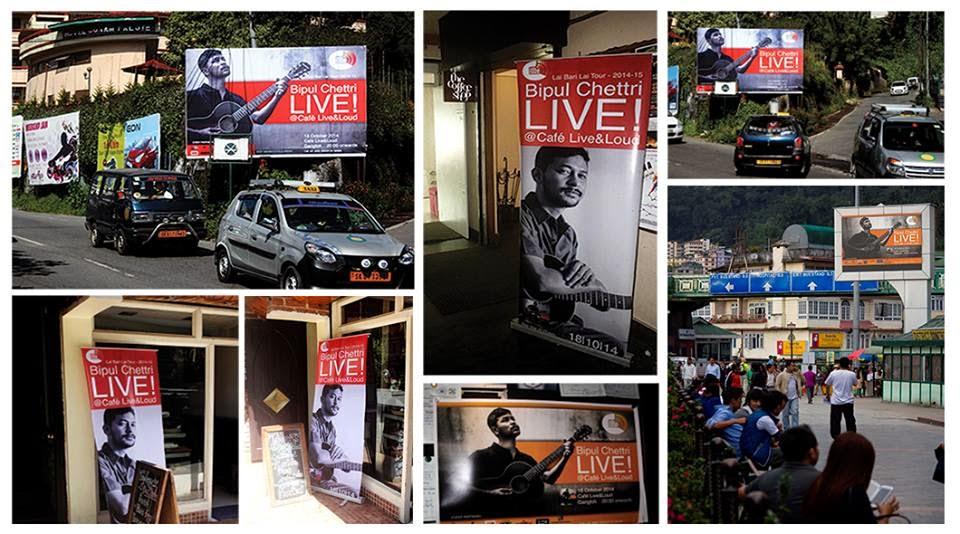 Bipul Chhettri at  Café Live and Loud in Gangtok