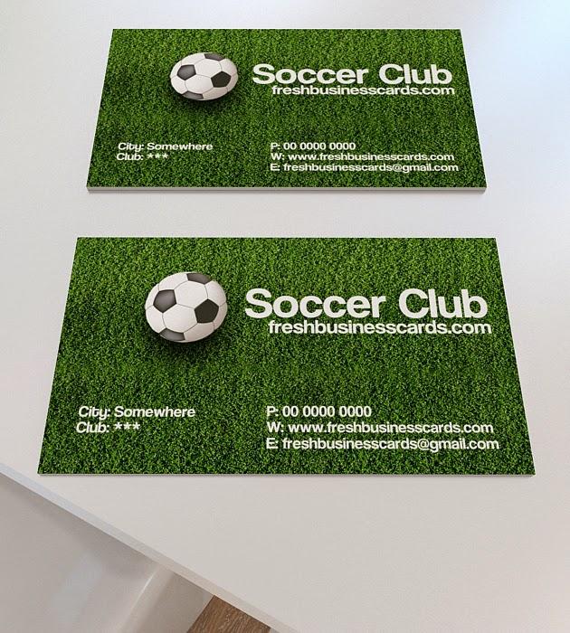 Soccer Business Card PSD