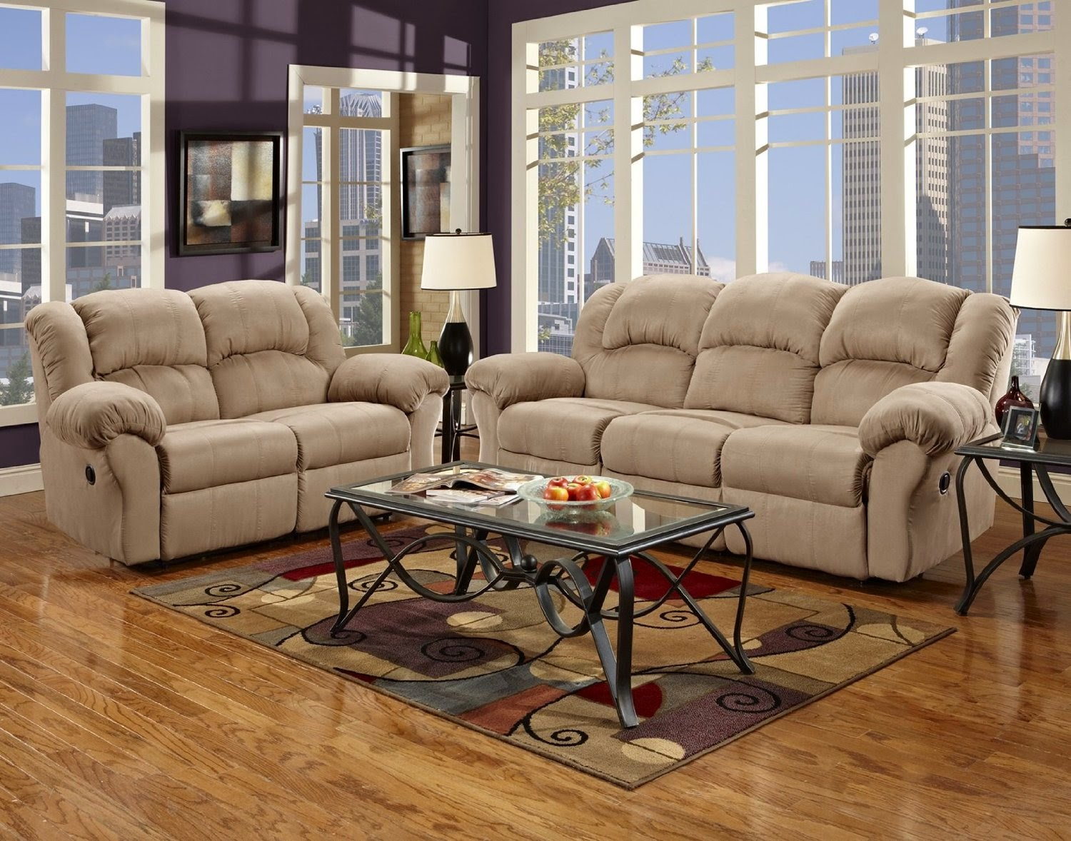 Cheap Reclining Loveseat Sale : Microfiber Reclining Sofa And Loveseat