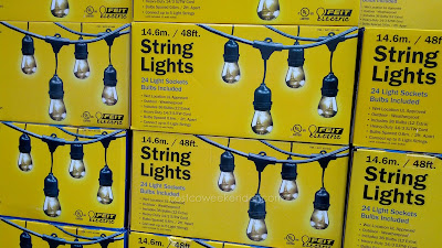 Decorate the outside of your home with the Feit 48 ft Outdoor String Lights