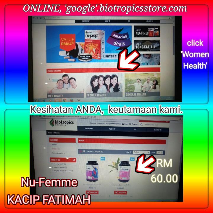 ONLINE only, Women Health. Nu-Femme Kacip Fatimah.