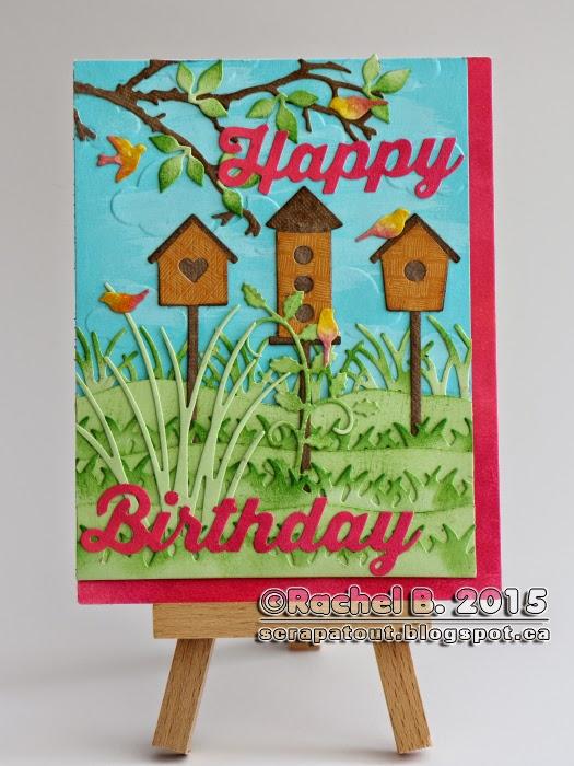Handmade Birthday Card Impression Obsession Darice Spring