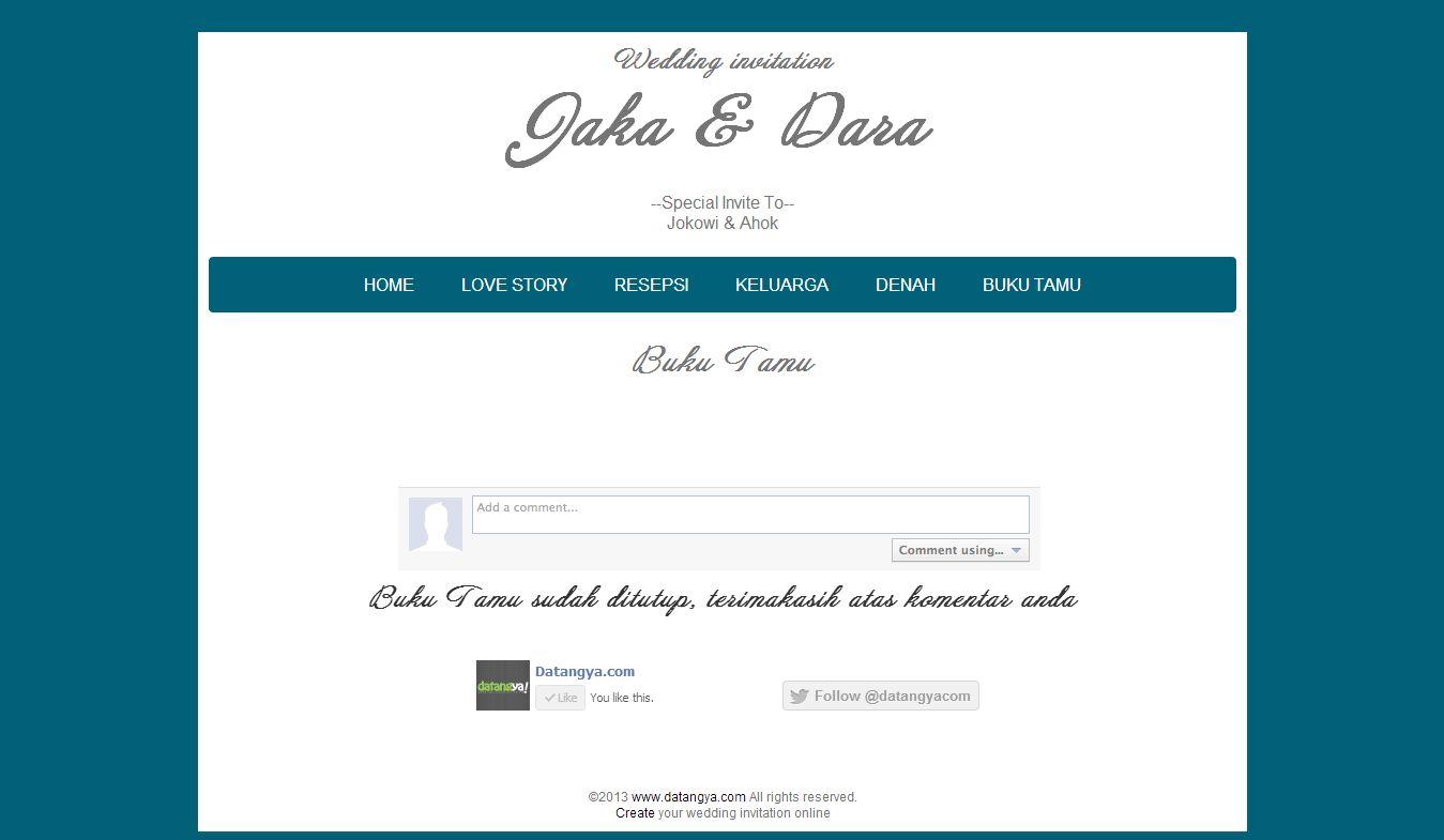 undangan online buku tamu undangan online keluarga besar