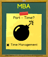 difference between part time and full time mba