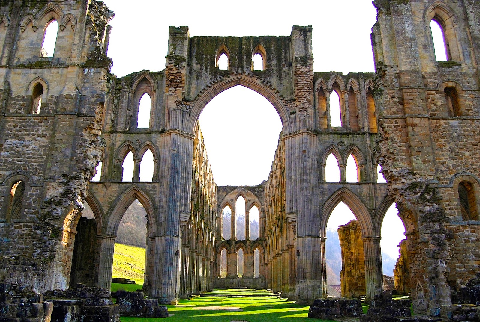 Rievaulx Abbey's crossing and presbytery