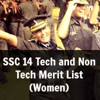 SSC 14 Tech and Non Tech Merit List (Women)