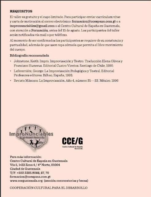 REVISTA SKETCH DE TEATRO INDEPENDIENTE LATINOAMERICANO: TALLER ...