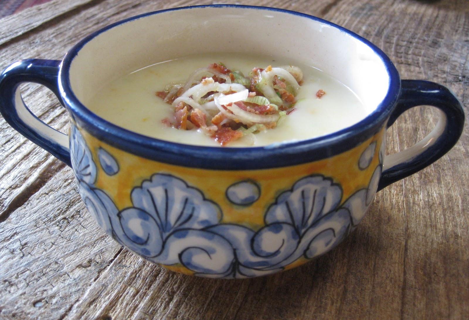 Flavors of the Sun: Creamy Potato Soup with Bacon Vinaigrette