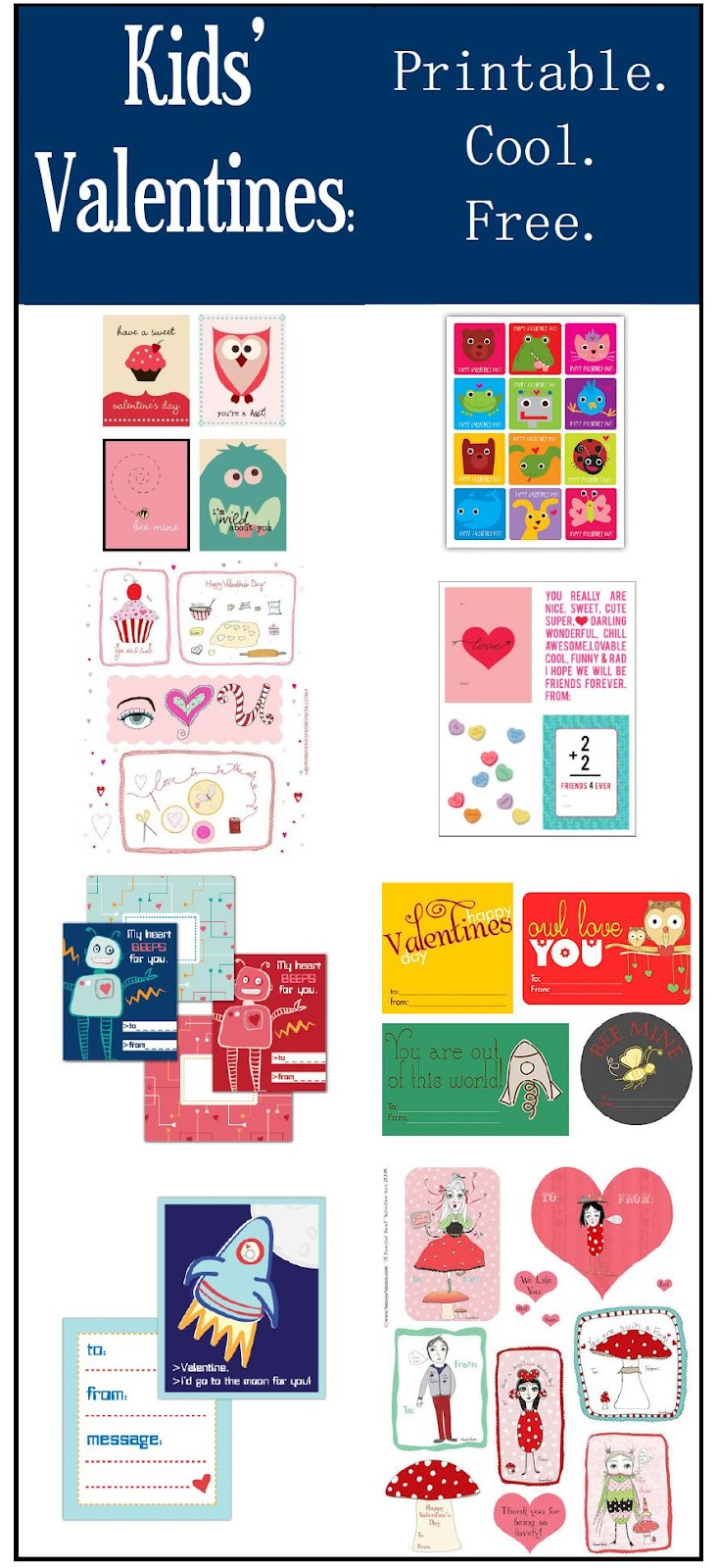 kids u0027 valentines roundup printable cool free frugal family times