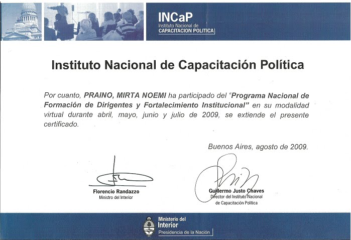 Instituto Nacional de Capacitación Politica