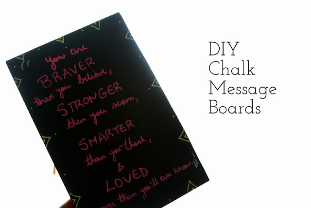 DIY Chalk Message Boards