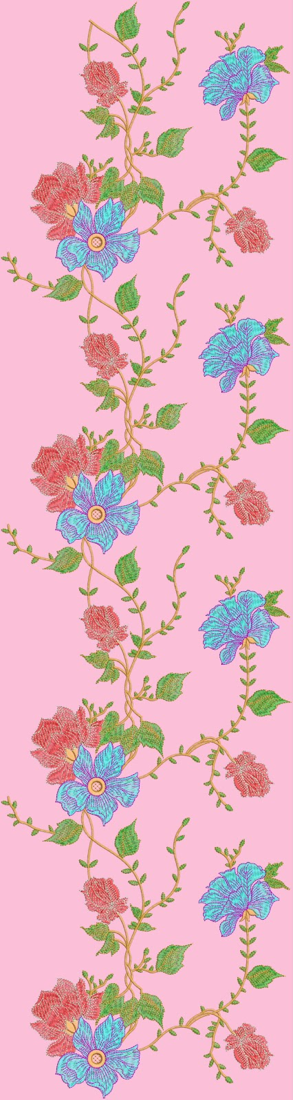 Embdesigntube Indian Ladies Suits Embroidery Designs