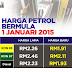 Harga Baru RON95, RON97 , Diesel Berkuatkuasa 1 Januari 2015