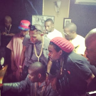 Rapper Wale Works with Don Jazzy and Dbanj in Mavin Studio.