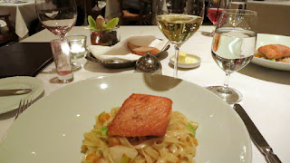 Fettuccine and Salmon