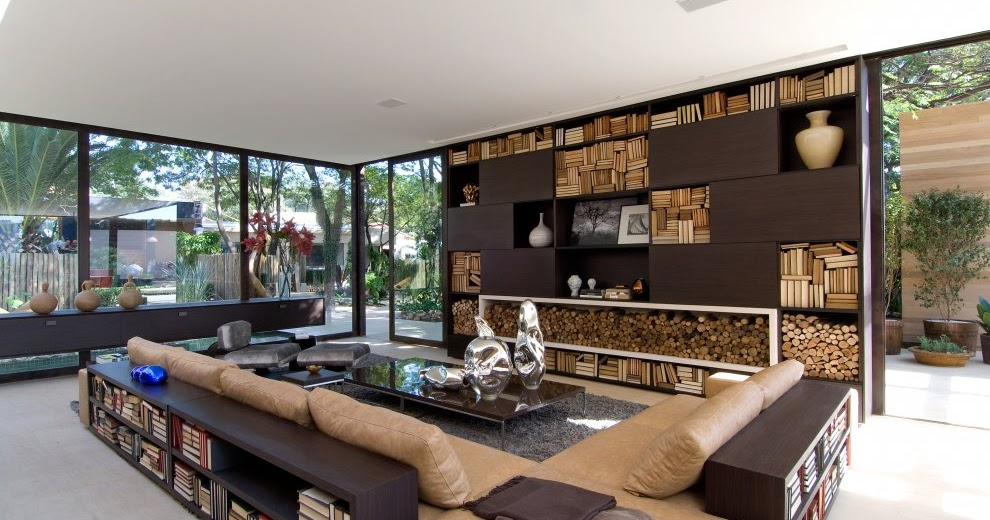 Modern home interior brazil most beautiful houses in the for Most modern house in the world