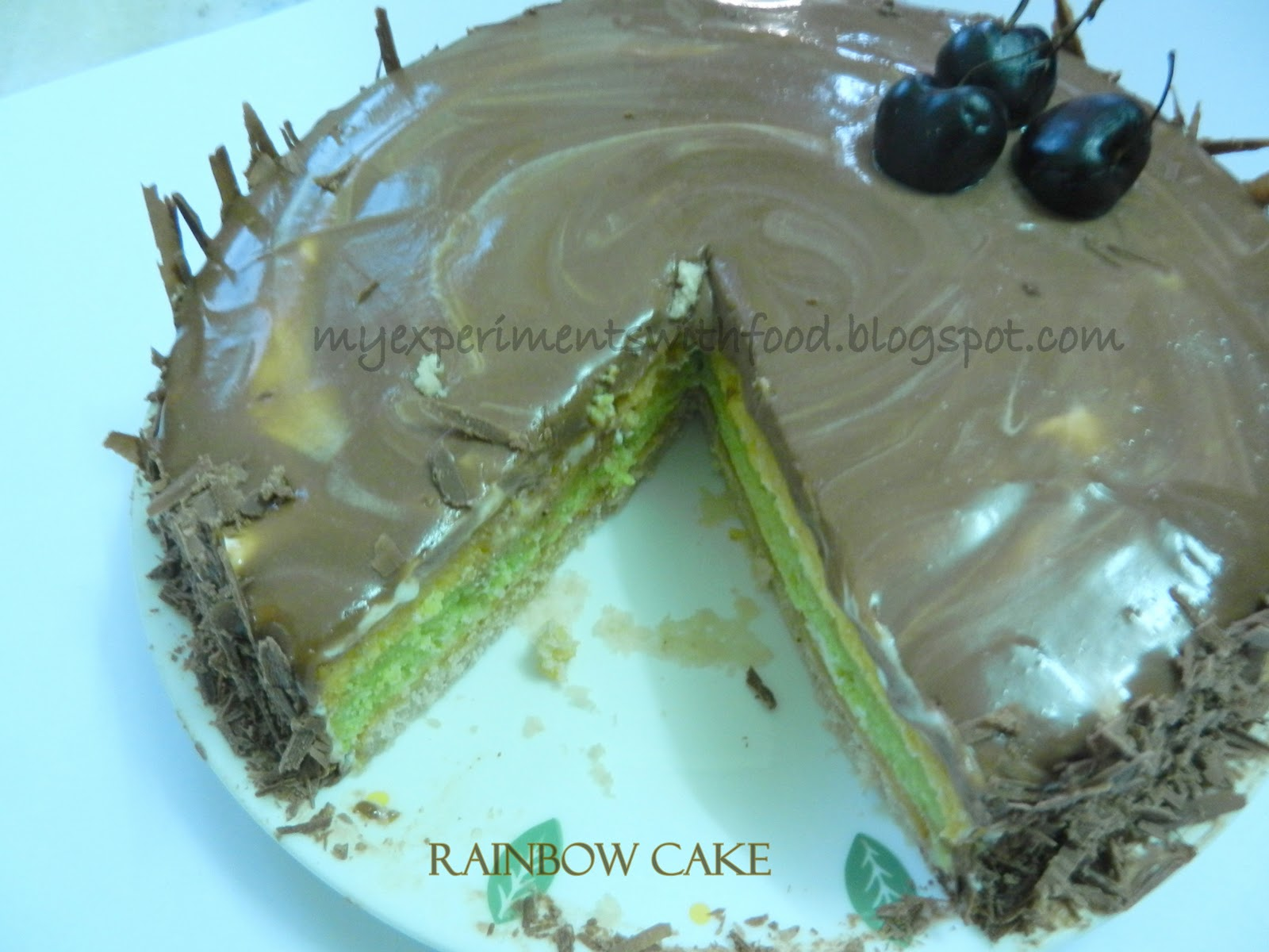 My Experiments With Food Joan S Rainbow Cake Colors Of Joy This