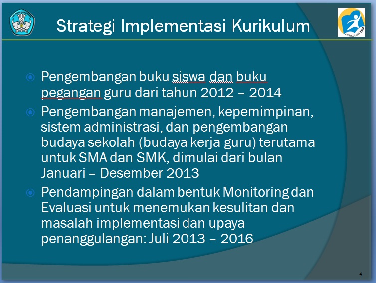 STRATEGI IMPLEMENTASI KURIKULUM 2013
