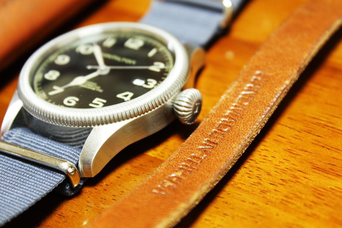 Hamilton watch with NATO Strap Billykirk Cuff