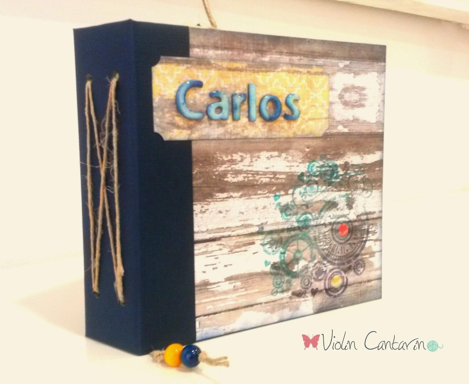 scrapbook, manualidades, álbum, tintas, embossing, Violín Cantarín