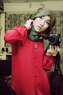 model cantik Foto Hijab Hana Tajima