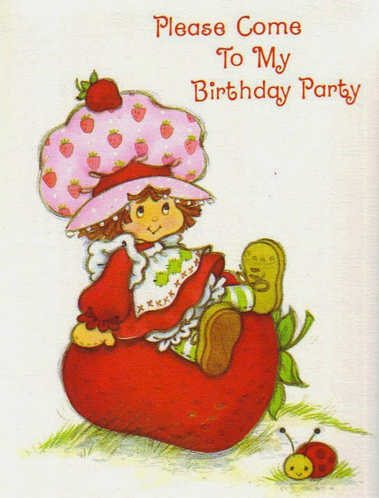 8 Franchises Created By Greeting Card Companies In The 80s – Strawberry Shortcake Birthday Card
