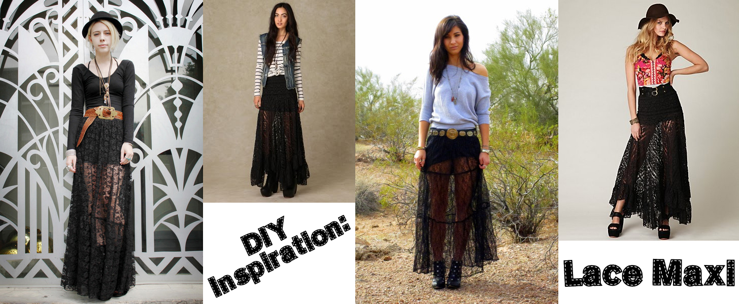 punky diyer diy inspiration lace maxi skirt