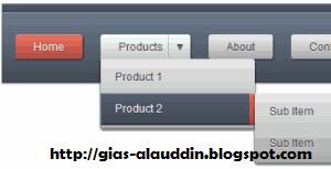 Membuat Menu Navigasi Dropdown Keren Dengan CSS