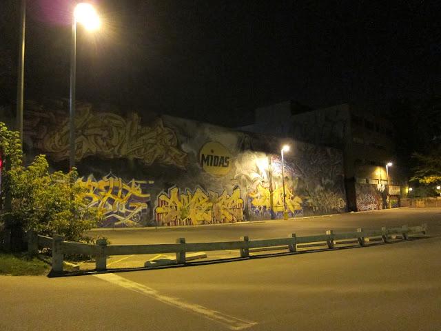 Full view of the Keele graffiti wall