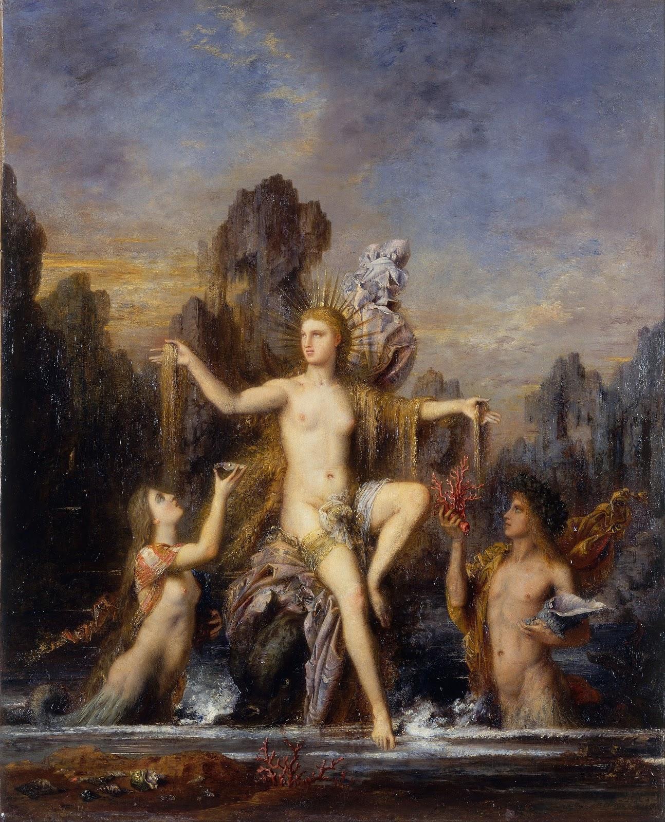 Gustave Moreau, Vénus sortant de l'Onde (1866)